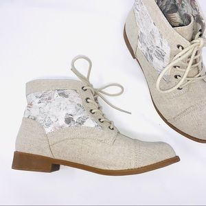 Jellypop | Pinkie Floral Lace Boho Ankle Booties 8